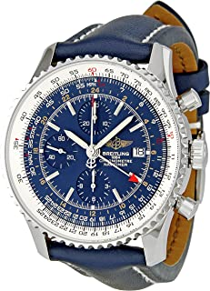 Men's A2432212/C651 Navitimer World Blue Chronograph Dial Watch