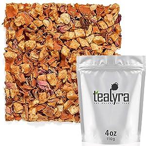 Tealyra - Fuzzy Peach - Carrot - Pineapple - Apple - Fruity Herbal Loose Leaf Tea - Caffeine Free - Hot or Iced - 112g (4-ounce)