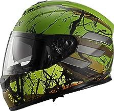 GLX Unisex-Adult GX15 Lightweight Full Face Motorcycle Street Bike Helmet with Internal Sun Visor DOT Approved (Totem, X-Large)