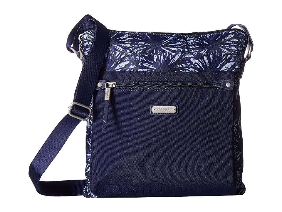 Baggallini New Classic Go Bagg with RFID Phone Wristlet (Indigo Floral) Bags