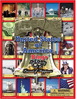 Lucy Hammett Games USA Bingo Game