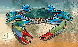 Citizen Pride Coastal Blue Crab Door Mat by Joe Barsin, 30x18