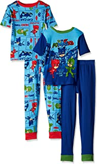 PJ Masks Boys' 4-Piece Cotton Pajama Set