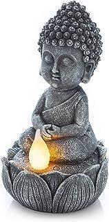 VP Home Meditating Buddha Solar Powered LED Outdoor Decor Garden Light