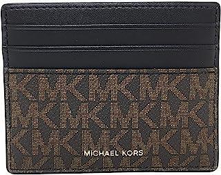 Michael Kors Men's Cooper Tall Card Case Wallet (Brown/Black)
