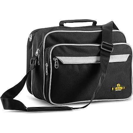 Black Mirror Polyester Small Messenger Cash Bag (10x12x7.5)