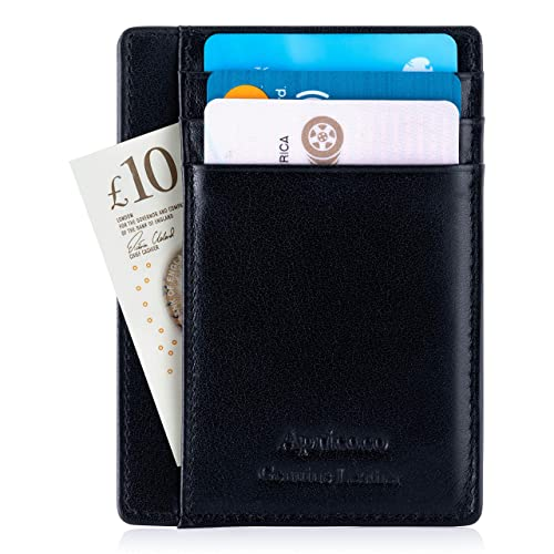 3e4b1813f6c1 APRICOCO Slim Wallet and Minimalist Card Holder with RFID Blocking Holds 7  Cards and Bank Notes