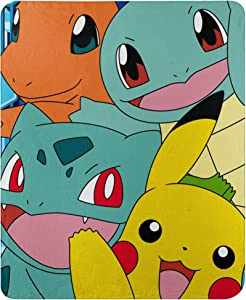 "Pokémon, ""Meet the Group"" Fleece Throw Blanket, 45"" x 60"", Multi Color"