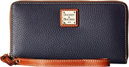 Dooney & Bourke - Pebble Leather Large Zip Around Wristlet