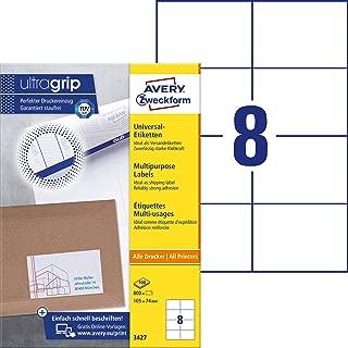 AVERY Zweckform 3421 Etiketten ultragrip 70 x 25,4mm weiß 10 Blatt 330 Etiketten