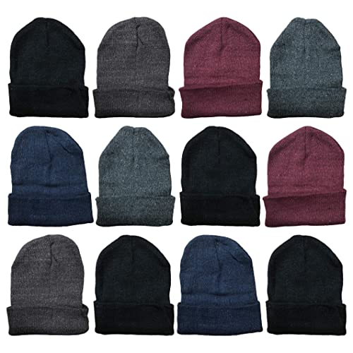 4846495eea151 Yacht & Smith Mens Womens Warm Winter Hats in Assorted Colors, Mens Womens  Unisex