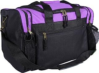 "DALIX 17"" Duffle Bag Dual Front Mesh Pockets (Black Gold Gray Dark Green Navy Blue Maroon Royal Blue Orange Pink Purple Red White"