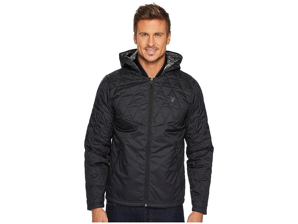 Spyder Ouzo Synthetic Down Hoodie Jacket (Black) Men