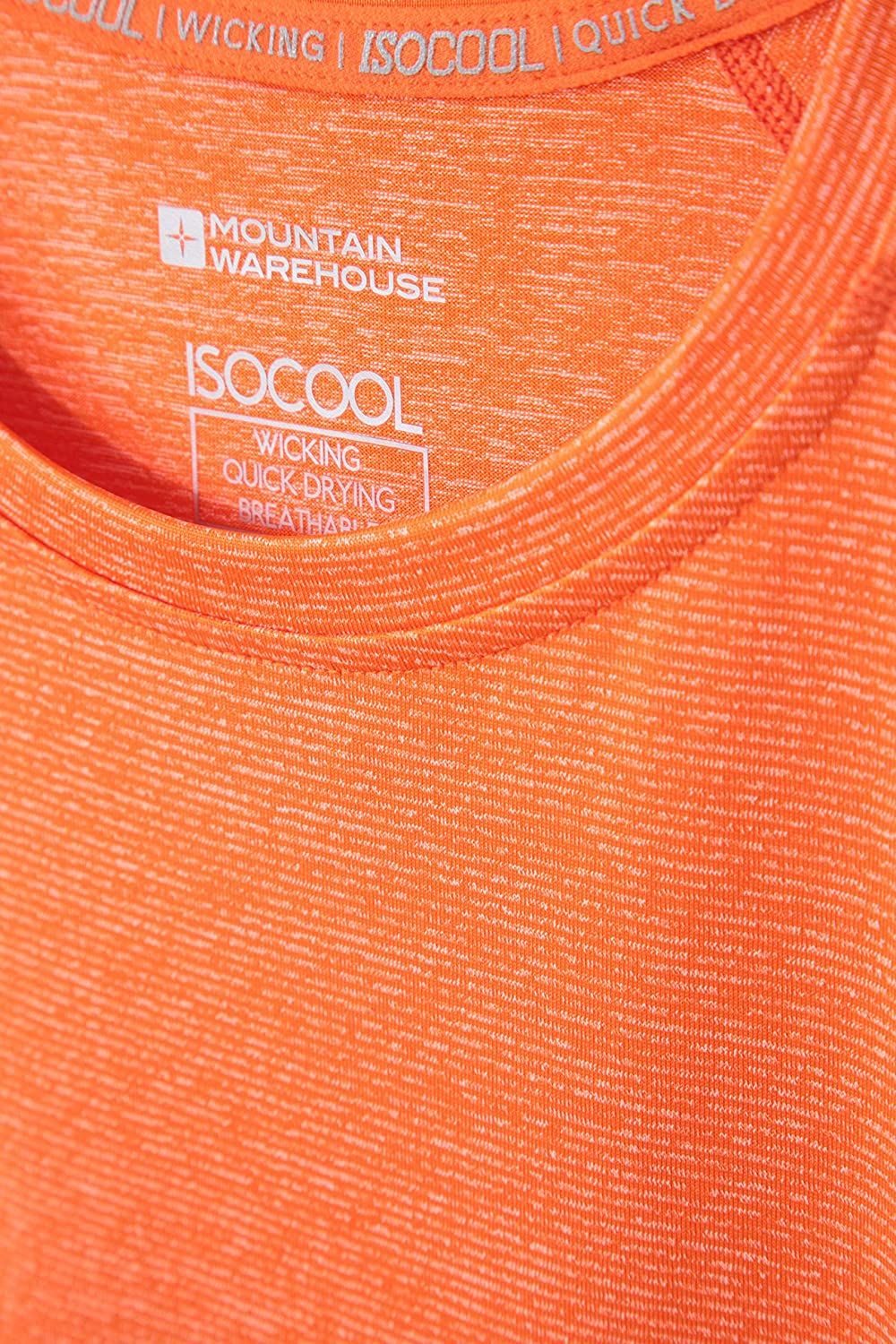 Lightweight Tshirt Breathable Top UPF30+ UV Protection T-Shirt Quick Dry Hiking /& Daily Mountain Warehouse IsoCool Agra Mens Striped Tee for Travelling
