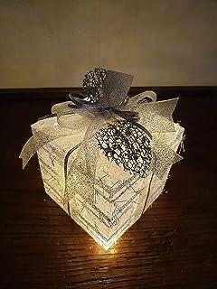 Pacchetto Illuminato Pacchetto Regalo Natale argento Idea Regalo Decorativa per Natale, Capodanno, Compleanno, Albero di N...