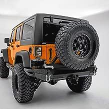 GSI Full Width Rear Bumper with Swing Tire Carrier, Double Wrap Plate, 2