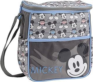 f07075e9bddf9 Disney Disney Mickey Mouse Mini Diaper Bag, Smile Mickey Print, Grey