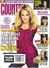 Carrie Underwood: My 25 Most Revealing Secrets (Fears - First Date - My Wild Side) / Taylor Swift's Amazing Adventure / Shania & Hubby Split / John Rich: Nashville Star Judge Rips American Idol / Eddie Arnold, Country Icon Dies At 89 (Country Weekly, Volume 15, Number 12, June 16, 2008)