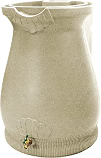 Good Ideas RWURN-SAN Rain Wizard Rain Barrel Urn 65-Gallon, Sandstone