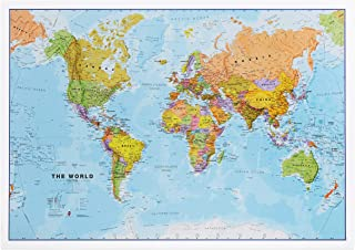 Political World Wall Map - Rolled 33 x 23 Front Sheet Lamination