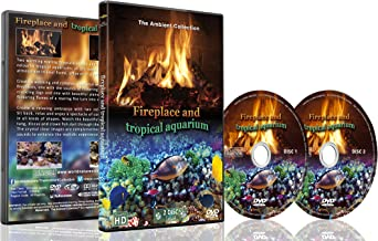 Fire and Tropical Fish 2 DVD Set - Fireplace and Tropical Aquarium