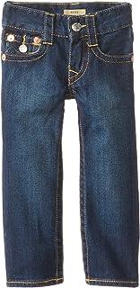 True Religion Boys' Geno Relaxed Slim Classic 5 Pocket Jeans - Blue