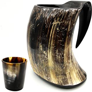 Vikings Valhalla's Viking Cup Drinking Horn Tankard Authentic Medieval Inspired drinking Mug (16ozcup)