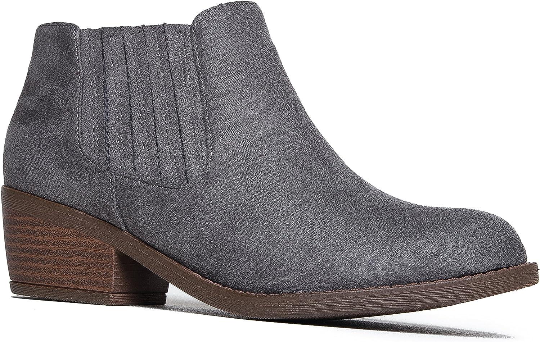 J. Adams Arlo Booties OFFicial site for Women New color - Slip Round Low Heel Block Toe