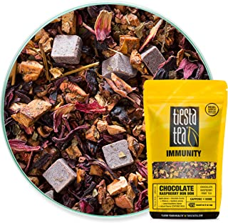 Tiesta Tea Chocolate Raspberry Bon Bon Chocolate Raspberry Fruit Tea, 30 Servings, 1.8 Ounce Pouch - Caffeine Free, Loose Leaf Herbal Tea, Immunity Blend, Non-GMO