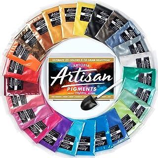 Mica Powder Ultimate 25 Color Set [Huge 250g/8.82oz] Perfect for Epoxy Resin Color Pigment, Soap Making, Bath Bomb Coloran...