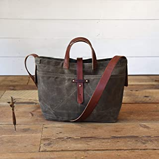 peg and awl waxed canvas tote