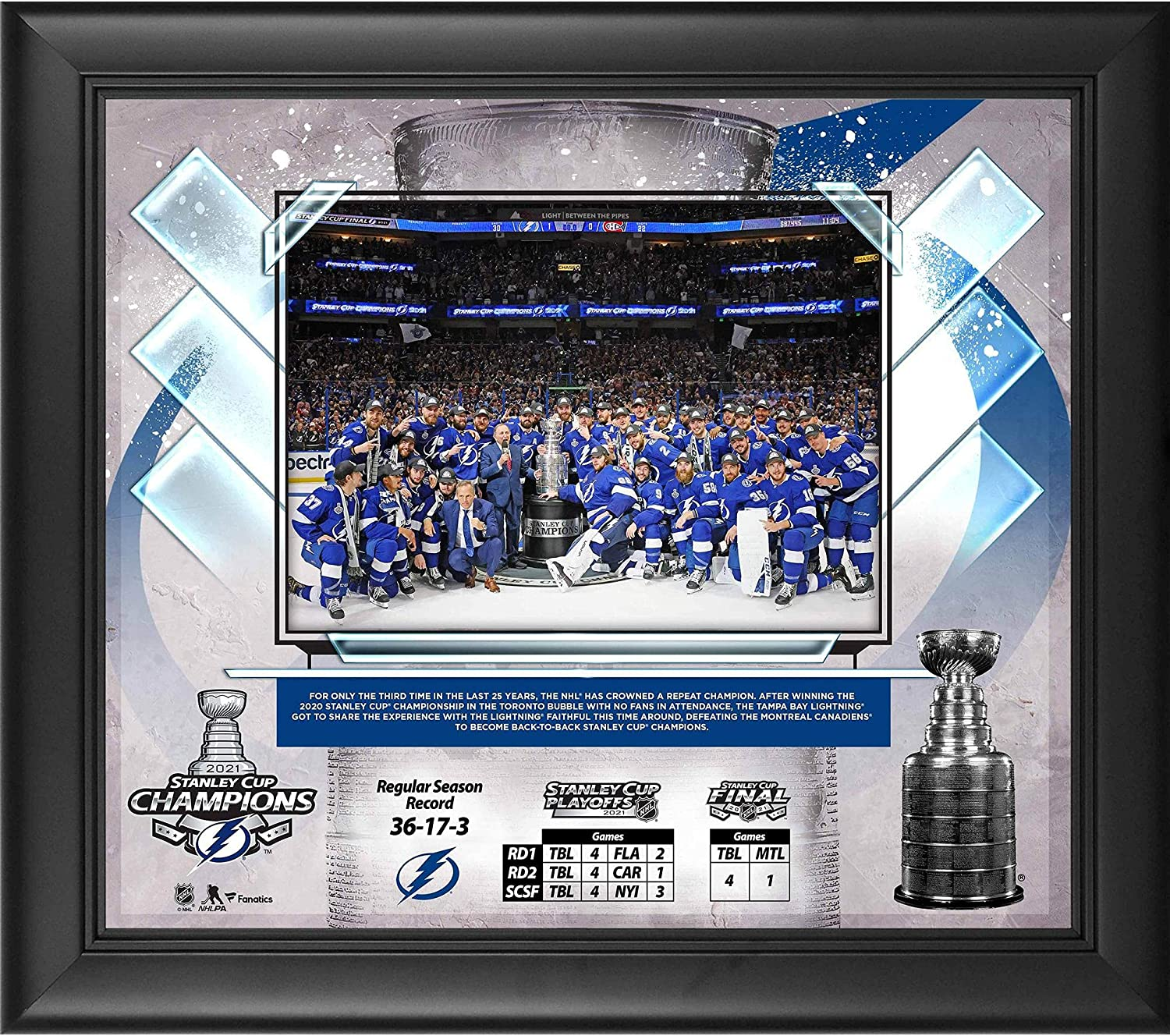 Tampa depot Bay Lightning 2021 Stanley Cup Super Special SALE held Champions 15
