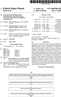 Systems and methods for integrating a device with a software-defined networking controller: United States Patent 9948505