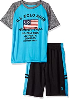 U.S. Polo Assn. Boys' T-Shirt, Tank and Mesh Short Set