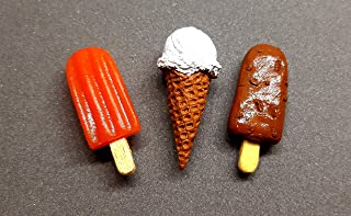 the monument shop Ice Cream Fridge Magnet Orange bar, Softy, Choco bar Miniature Food 3D Fridge Magnet Best Souvenir Gift ...