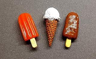 the monument shop Ice Cream Fridge Magnet Orange bar, Softy, Choco bar Miniature Food 3D Fridge Magnet Best Souvenir Gift ...