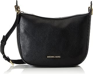 Michael Michael Kors Raven Medium Leather Messenger, Black 30F6GRXM2L