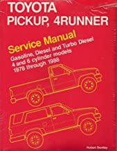Toyota Pickup, 4Runner Service Manual: Gasoline, Diesel and Turbo Diesel 4 and 6 Cylinder Models 1978 Through 1988
