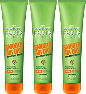Garnier Hair Care Fructis Style Smooth Air Dry Anti-Frizz Cream, 3 Count