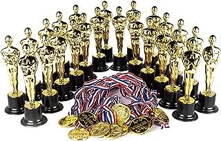 Award Medal of Honor Trophy Award Set of 48 Includes 24 Gold Winner Award Medals; 24 Gold Award Trophy Statues 6