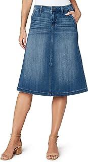 Liverpool Women's Denim Circle Skirt