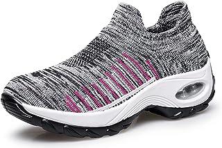 [MOXOCO] スニーカー レディース ランニングシューズ 運動靴 ウオーキングシューズ スポーツシューズ ジム トレーニング エア クッション性 軽量 厚底 5CM身長アップ 婦人靴 23.0-26.0cm