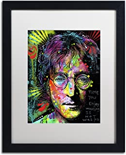 Lennon Front by Dean Russo, White Matte, Black Frame 16x20-Inch