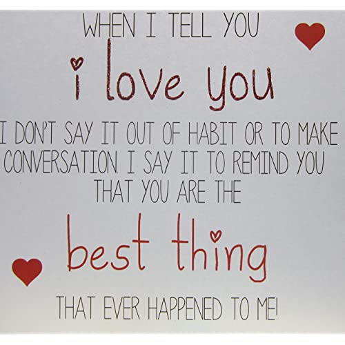 """WHITE COTTON CARDS""""I Love You.You are The Best Thing That Ever Happened"""