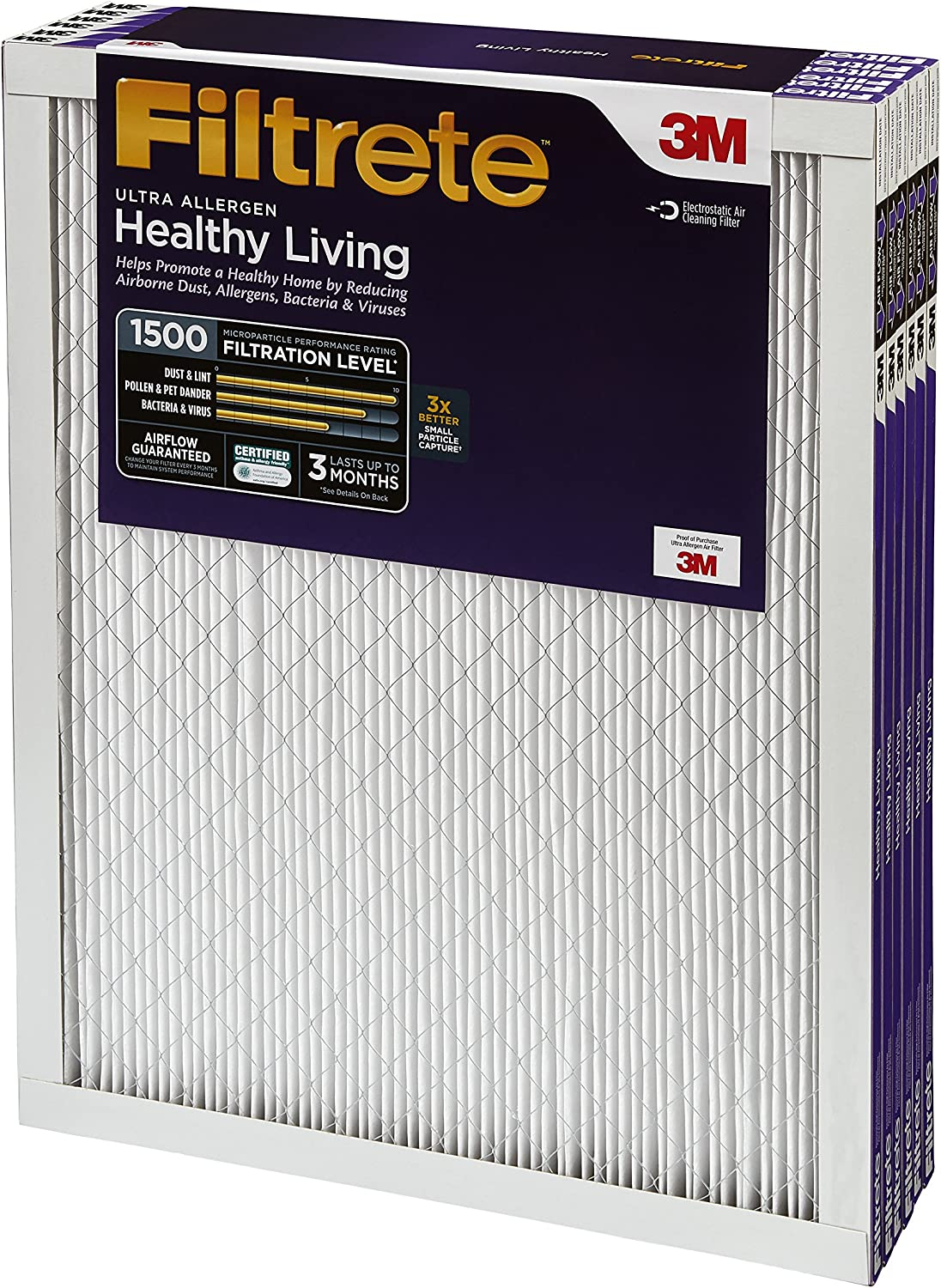 1500 MPR 24 x 30 x 1 6-Pack Filtrete 2013DC-6 Ultra Allergen Reduction Filters