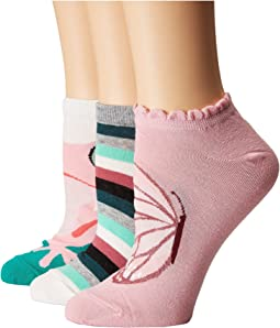 Kate Spade New York - Frog 3-Pack No Show Socks