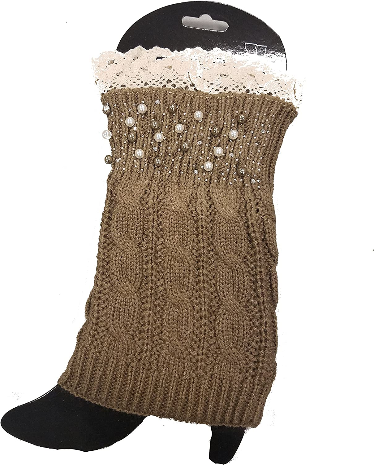 Adorable Beaded/Button and Lace Styles Leg Warmers/Boot Socks Topper Cuffs