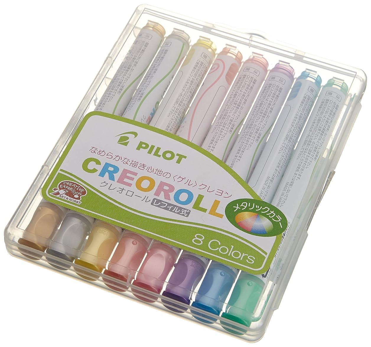 Pilot Gel Type Crayon Creoroll, Metallic 8 Color Set (AO-CR6M-S8) psgpjpzsqhlisufr