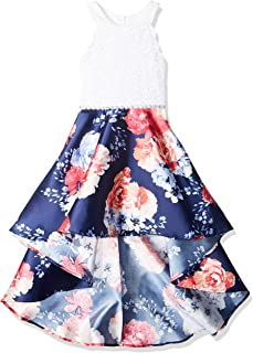 49bf5eee5d8108 Speechless Girls  Big 7-16 Tween Sleeveless High-Low Taffeta Party Dress