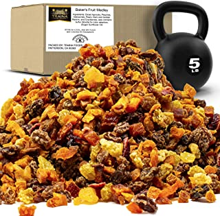Traina Home Grown Sun Dried Baker's Fruit Medley - Diced Peaches, Cranberries, Apricots, Pears, Nectarines, and Raisins - ...